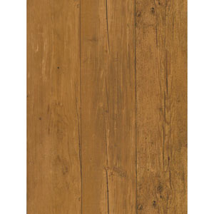 Welcome Home Medium Maple Brown and Black Wide Wooden Planks Wallpaper