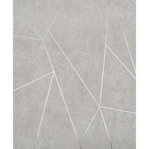 Antonina Vella Modern Metals Nazca Light Grey and Silver Wallpaper