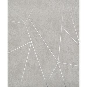 Antonina Vella Modern Metals Nazca Light Grey and Silver Wallpaper
