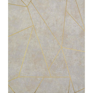 Antonina Vella Modern Metals Nazca Neutral and Gold Wallpaper