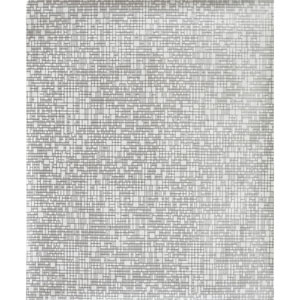 Antonina Vella Modern Metals Interactive White and Silver Wallpaper