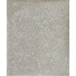 Antonina Vella Modern Metals Interactive White and Gold Wallpaper