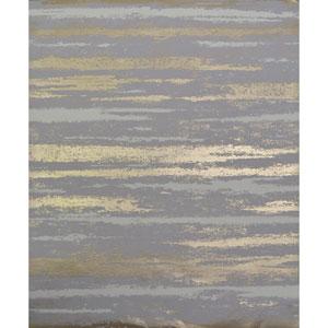 Antonina Vella Modern Metals Atmosphere Grey and Gold Wallpaper