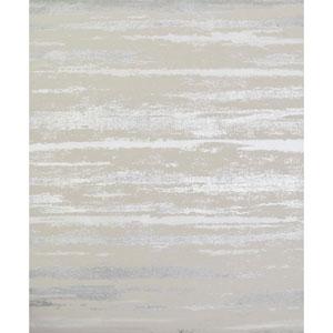 Antonina Vella Modern Metals Atmosphere Beige and Silver Wallpaper