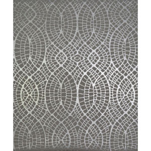 Antonina Vella Modern Metals Tortoise Grey and Silver Wallpaper