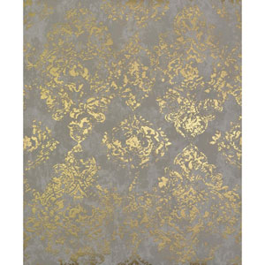 Antonina Vella Modern Metals Stargazer Khaki and Gold Wallpaper