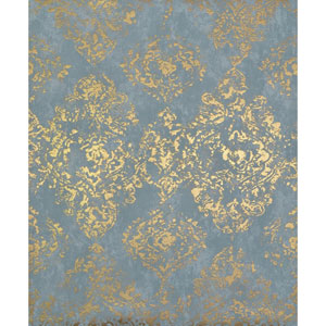 Antonina Vella Modern Metals Stargazer Blue and Gold Wallpaper