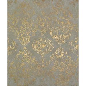 Antonina Vella Modern Metals Stargazer Almond and Gold Wallpaper