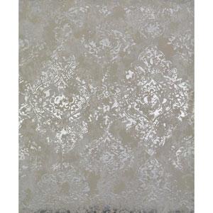 Antonina Vella Modern Metals Stargazer White and Silver Wallpaper