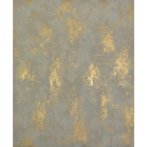 Antonina Vella Modern Metals Nebula Almond and Gold Wallpaper
