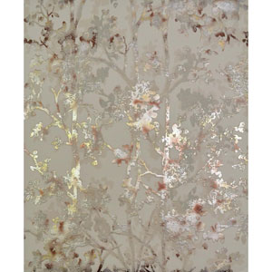 Antonina Vella Modern Metals Shimmering Foliage Khaki Multicolor Wallpaper