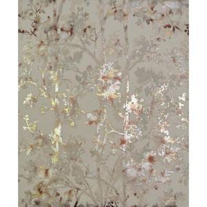 Antonina Vella Modern Metals Shimmering Foliage Khaki Multicolor Wallpaper