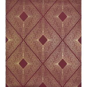 Antonina Vella Modern Metals Harlowe Red and Gold Wallpaper