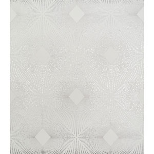 Antonina Vella Modern Metals Harlowe White and Silver Wallpaper