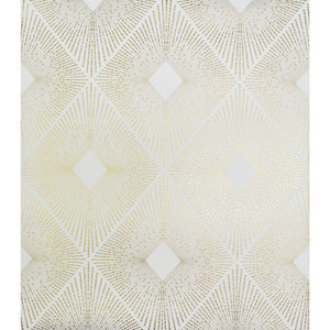 Antonina Vella Modern Metals Harlowe White and Gold Wallpaper