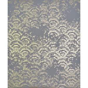 Antonina Vella Modern Metals Eclipse Grey and Gold Wallpaper
