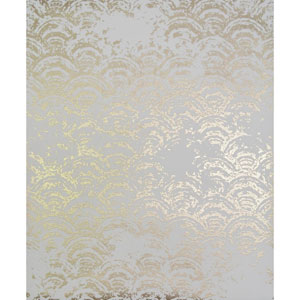 Antonina Vella Modern Metals Eclipse White and Gold Wallpaper