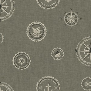 Nautical Living Pewter and Rich Cream Nautical Spot Wallpaper