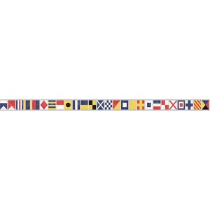 Nautical Living Yellow and Black Sailing Flags Border
