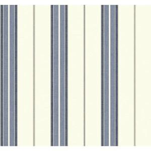 Nautical Living Beige and Silver Streak Bay Stripe 2 Wallpaper