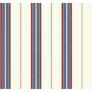 Nautical Living Beige and Pale Grey Bay Stripe 2 Wallpaper