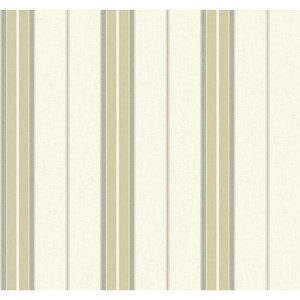 Nautical Living Beige and Medium Grey Bay Stripe 2 Wallpaper