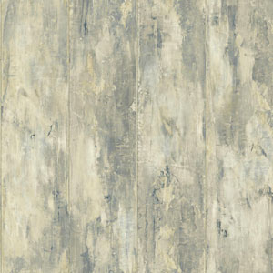 Nautical Living Cream and Beige Painted Wood Planks Wallpaper