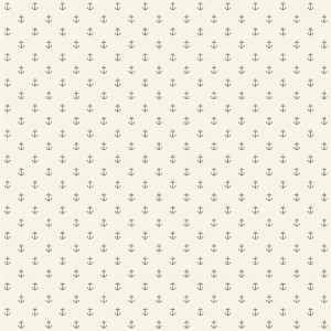 Nautical Living Cream and Silvery Grey Anchor Spot Wallpaper
