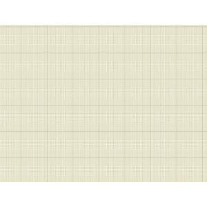 Nautical Living White and Beige Harris Plaid Wallpaper