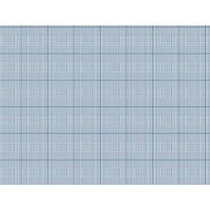 Nautical Living White and Marine Blue Harris Plaid Wallpaper