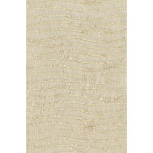 Ronald Redding Designer Resource Pearlescent Beige Grasscloth Pleated Paper Wallpaper