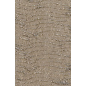 Ronald Redding Designer Resource Metallic Light Brown Grasscloth Pleated Paper Wallpaper