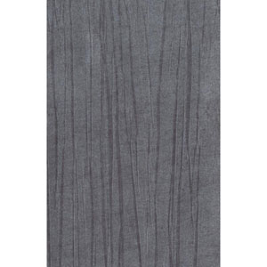 Ronald Redding Designer Resource Metallic Silver and Grey Grasscloth Vertical Organic Wallpaper