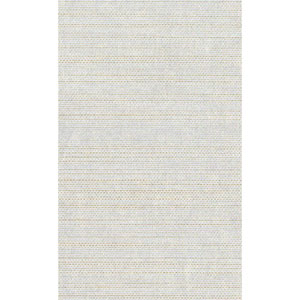 Ronald Redding Designer Resource Metallic Silver and Gold Grasscloth Woven Wallpaper