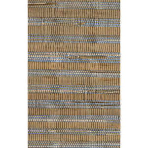 Ronald Redding Designer Resource Metallic Silver and Tan Grasscloth Bamboo Wallpaper