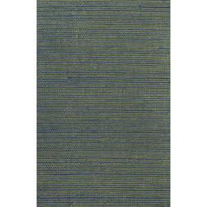 Ronald Redding Designer Resource Teal and Metallic Gold Grasscloth Petite Sisal Wallpaper