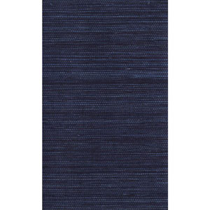 Ronald Redding Designer Resource Blue and Dark Purple Grasscloth Petite Sisal Wallpaper