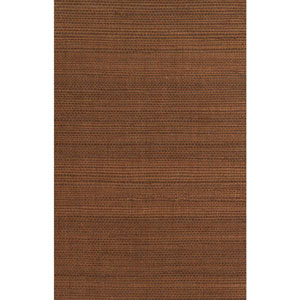 Ronald Redding Designer Resource Metallic Copper and Brown Grasscloth Wallpaper