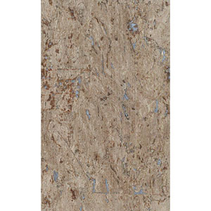 Ronald Redding Designer Resource Brown and Metallic Silver Grasscloth Cork Wallpaper