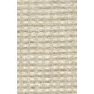 Ronald Redding Designer Resource Cream and Metallic Gold Grasscloth Woven Grass Wallpaper