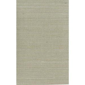 Ronald Redding Designer Resource Pale Green and Beige Grasscloth Sisal Wallpaper