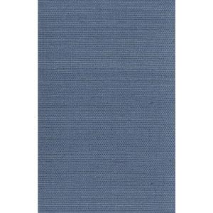 Ronald Redding Designer Resource Blue Grasscloth Sisal Wallpaper