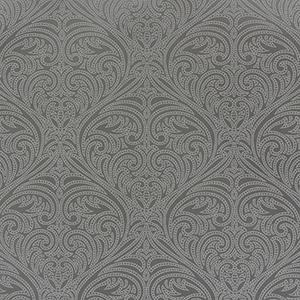 Candice Olson Journey Grey Romance Damask Wallpaper