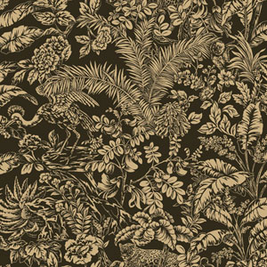 Outdoors In Botanical Sanctuary Black Wallpaper