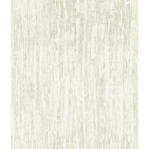 Outdoors In Weathered Paint White Wallpaper