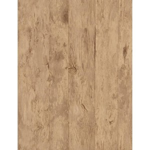 Weathered Finishes Cork Brown Wood Wallpaper