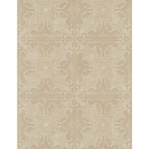 Weathered Finishes Taupe and Tobacco Brown Tin Tile Wallpaper