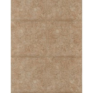 Weathered Finishes Cork Brown Tin Tile Wallpaper