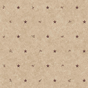 Inspired by Color Khaki and Burgundy Barn Star Wallpaper