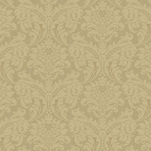 Proper English Blush and Beige Strie Flat Damask Wallpaper